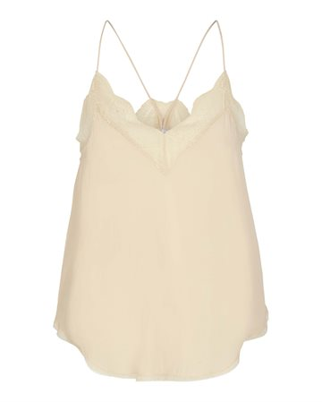 Co Couture Oman Lace Singlet - Bone