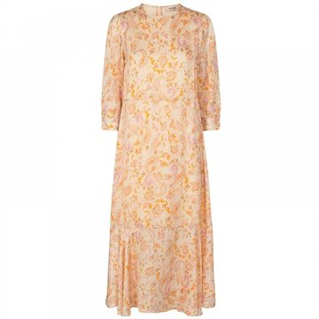 MOS MOSH SAKU 3/4 CHINTZ DRESS - PEACH PARFAIT